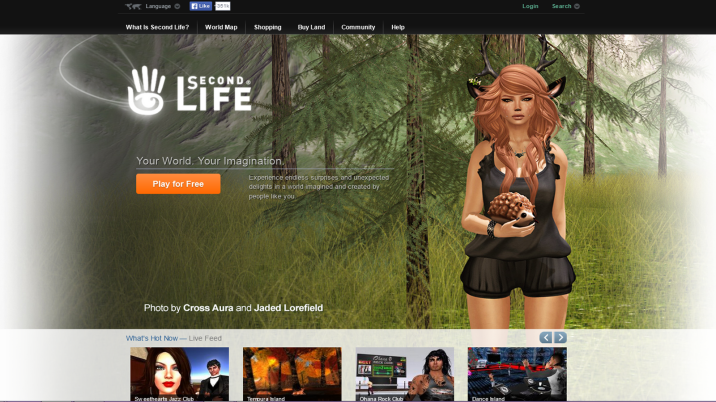 Second Life screen